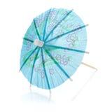 Blue cocktail umbrella Stock Image