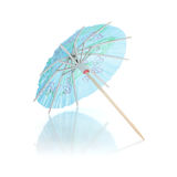 Blue cocktail umbrella Royalty Free Stock Photo