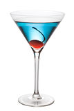 Blue Cocktail With Pen Path Stock Photos