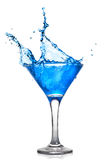 Blue Cocktail With Splash Stock Images