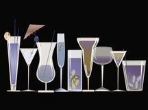 Blue cocktails Stock Photos