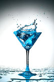 Blue coctail splash Stock Image