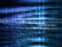 Blue code background. Blue binary data code background stock images