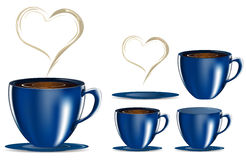 Blue coffee cup Stock Photography