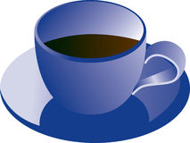 Blue coffee cup Royalty Free Stock Images
