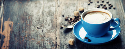Free Blue Coffee Cup Royalty Free Stock Photography - 53382337