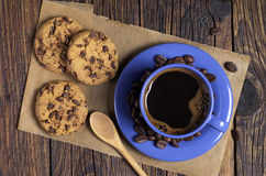 Free Blue Coffee Cup And Cookies Royalty Free Stock Photography - 67977667