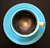 Blue coffee Royalty Free Stock Photos