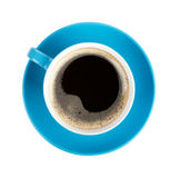 Blue coffee cup Stock Photos