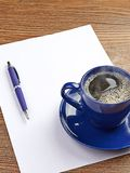 Blue coffee cup on white blank Royalty Free Stock Images