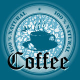 Blue coffee design Royalty Free Stock Images