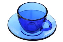 Blue coffee pair Royalty Free Stock Images