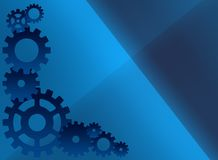 Blue cog background Stock Images