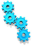 Blue Cogs Stock Photography