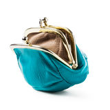 Blue coin purse empty Stock Photos