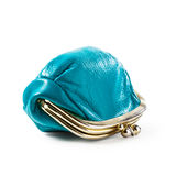 Blue coin purse Royalty Free Stock Photos