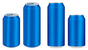 Blue cola aluminium soft drink cans vectorblue aluminium soft drink cans vector Stock Photos