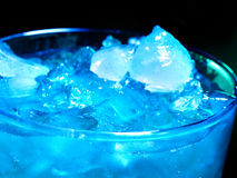 Blue cold cocktail  on dark background Royalty Free Stock Image