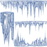 Blue cold icicles royalty free illustration