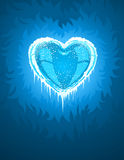 Blue cold icy heart Royalty Free Stock Photography