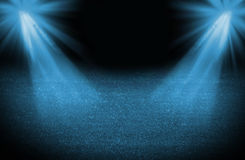 Blue cold light soccer field Royalty Free Stock Photography