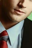 Blue collar. Male in a blue collar shirt Royalty Free Stock Photos