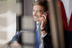 Blue collar during business travel Stock Images