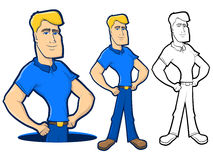 Blue Collar Character Royalty Free Stock Photo