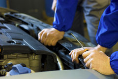 Blue Collar Hands Royalty Free Stock Images