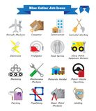 Blue Collar Job - Colorful Flat Icons. Vector Illustration Ready-To-Use 16 Colorful Blue Collar Job Flat Icons Designed as Multiple Professions Involved In Stock Photos