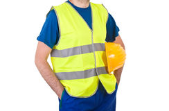 Blue collar worker. Royalty Free Stock Image