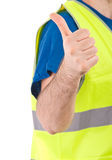 Blue collar worker. Royalty Free Stock Photos