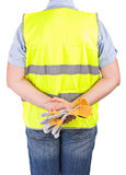 Blue collar worker. Stock Photos