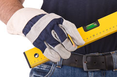Blue collar worker. stock image