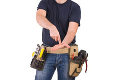 Blue collar worker. Royalty Free Stock Photo