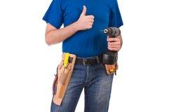 Blue collar worker. Stock Photos