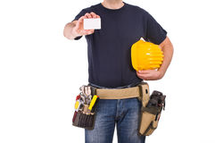 Blue collar worker. Royalty Free Stock Images