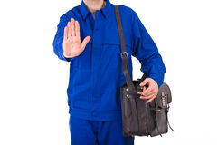 Blue collar worker. Royalty Free Stock Photography
