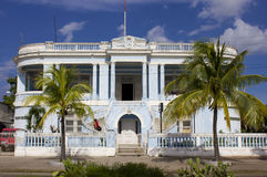 Blue Colonial Villa Royalty Free Stock Images