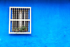 Blue Colonial Wall Stock Images