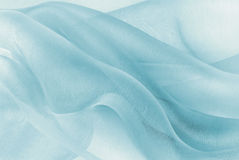 Blue color background. Organza fabric in blue color background Stock Photography