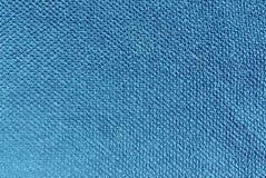 Blue color bath towel texture. stock photo