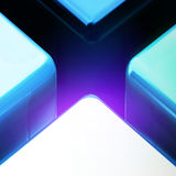 Blue color big lighting cross crack abstract background Royalty Free Stock Images