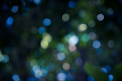 Blue color Blur focus circle bokeh. Royalty Free Stock Images