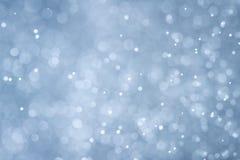 blue color bokeh Stock Image