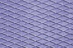 Blue color cement floor with rhombus pattern. Stock Photography