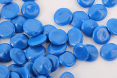 Blue color chemistry plastic Stock Photography