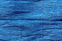 Blue color crepe paper. stock photos