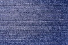 Blue color denim close up. Royalty Free Stock Images