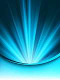 A Blue color design with a burst. EPS 8 Royalty Free Stock Images